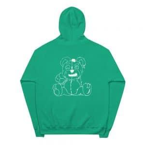 unisex fleece hoodie kelly green back 60569a105b78c