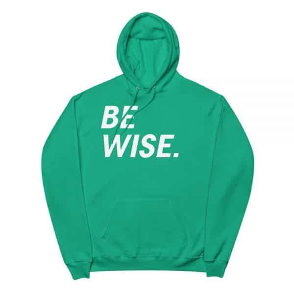 unisex fleece hoodie kelly green front 60569a105b449