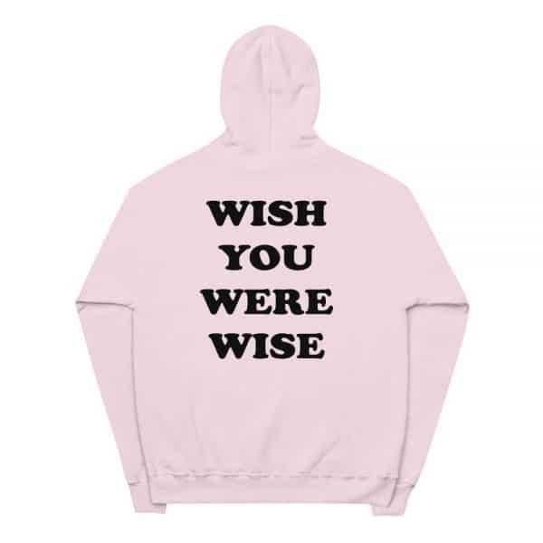 unisex fleece hoodie pale pink back 6057494ecdb44