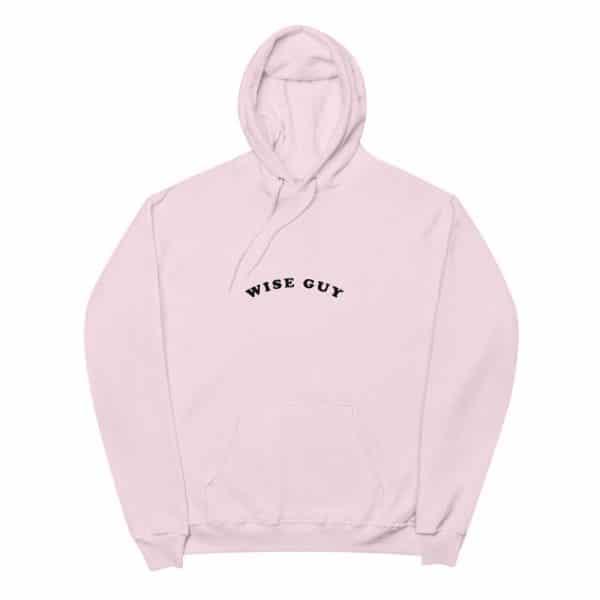 unisex fleece hoodie pale pink front 6057494ecd8be