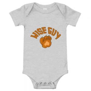 baby short sleeve one piece athletic heather front 60739e243cf7d
